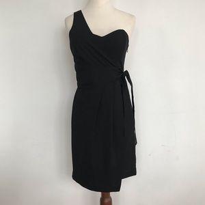 Club Monaco Black Tie One Shoulder Mini Dress